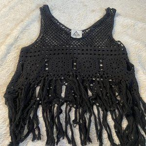 UNIF- macrame crop top  **NEVERWORN**